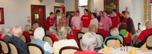 A-MEN perform special Valentine's Day concert at The Rockwood Senior Living Community in Webster Groves