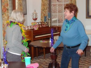 The Rockwood Senior Living Community's Mardi Gras Party Revelers 2013