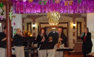 Dixie Rhythm Kings perform at The Rockwood's annual Mardi Gras Party