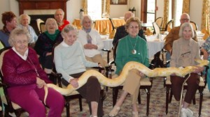 Wyman Critters Visit The Rockwood Senior Living in Webster Groves