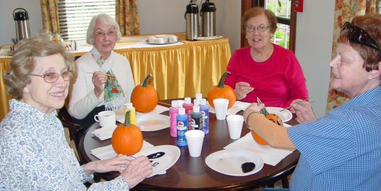 Pumpkin Painting at The Rockwood in Webster Groves